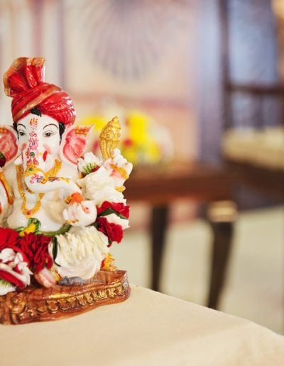 Ganesh Sculpture at a wedding