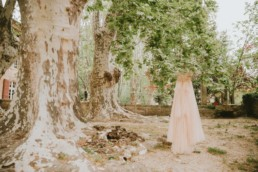Wedding dress in A chateaux