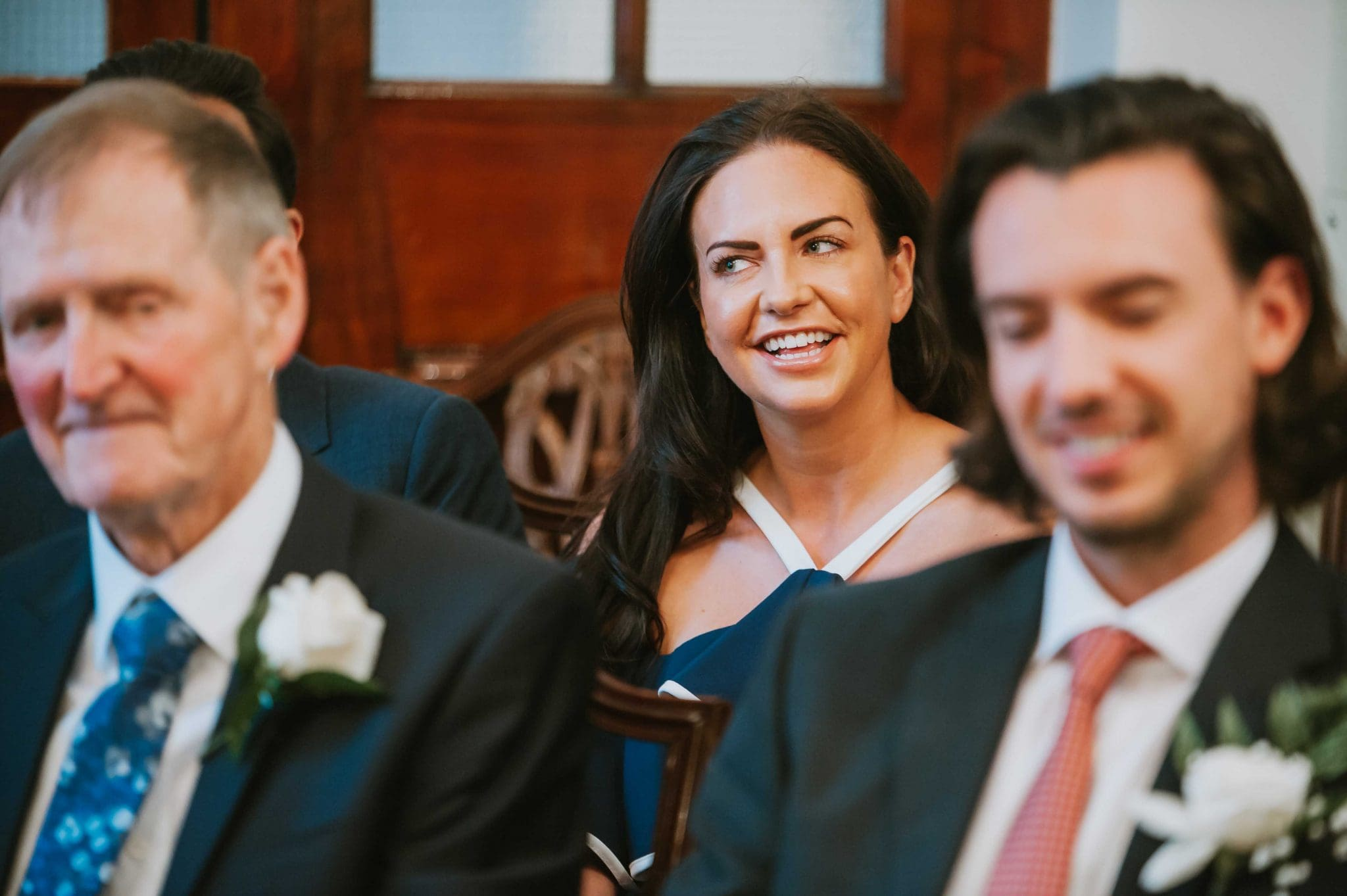 Married couple at the Chelsea Old Town Hall registry office