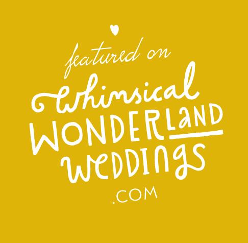 Logo of whimsical wonderland wedding website