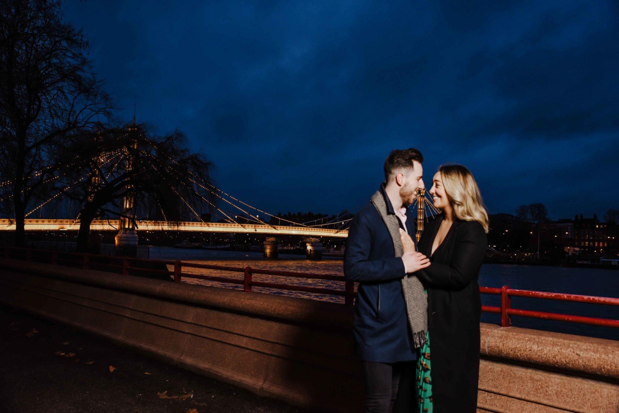 Man proposing to his girlfriend