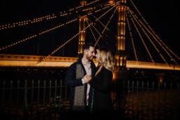 couple near Chelsea Bridge