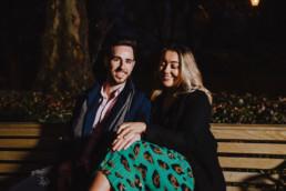 Couple sitting ona bench