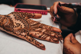 Pre-wedding Vidhi , Mehndi and Pithi ceremony in an Indian wedding ceremony, Barnet, Potters Bar London