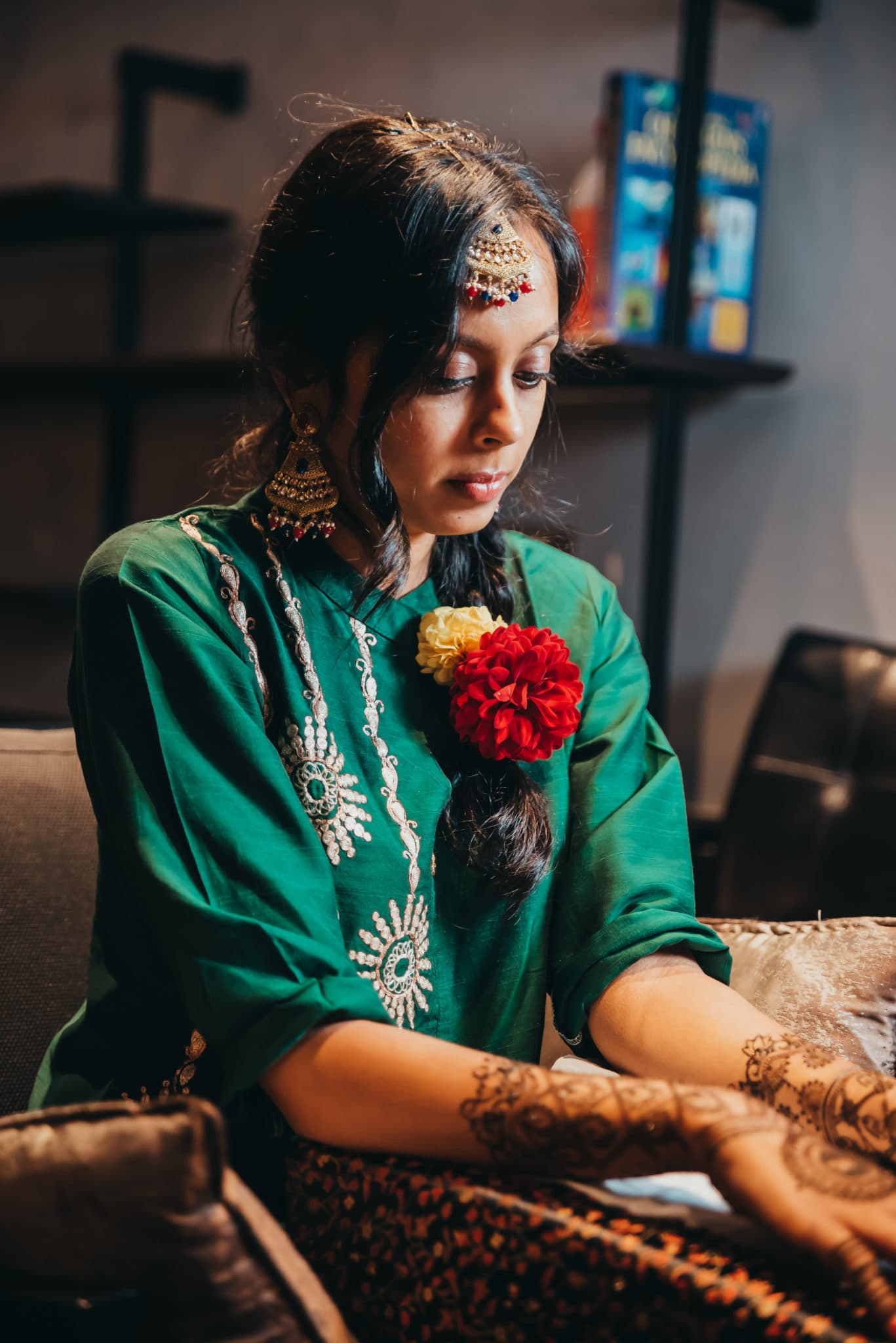 Mehndi ceremony in an Indian wedding ceremony , Barnet, Potters Bar London