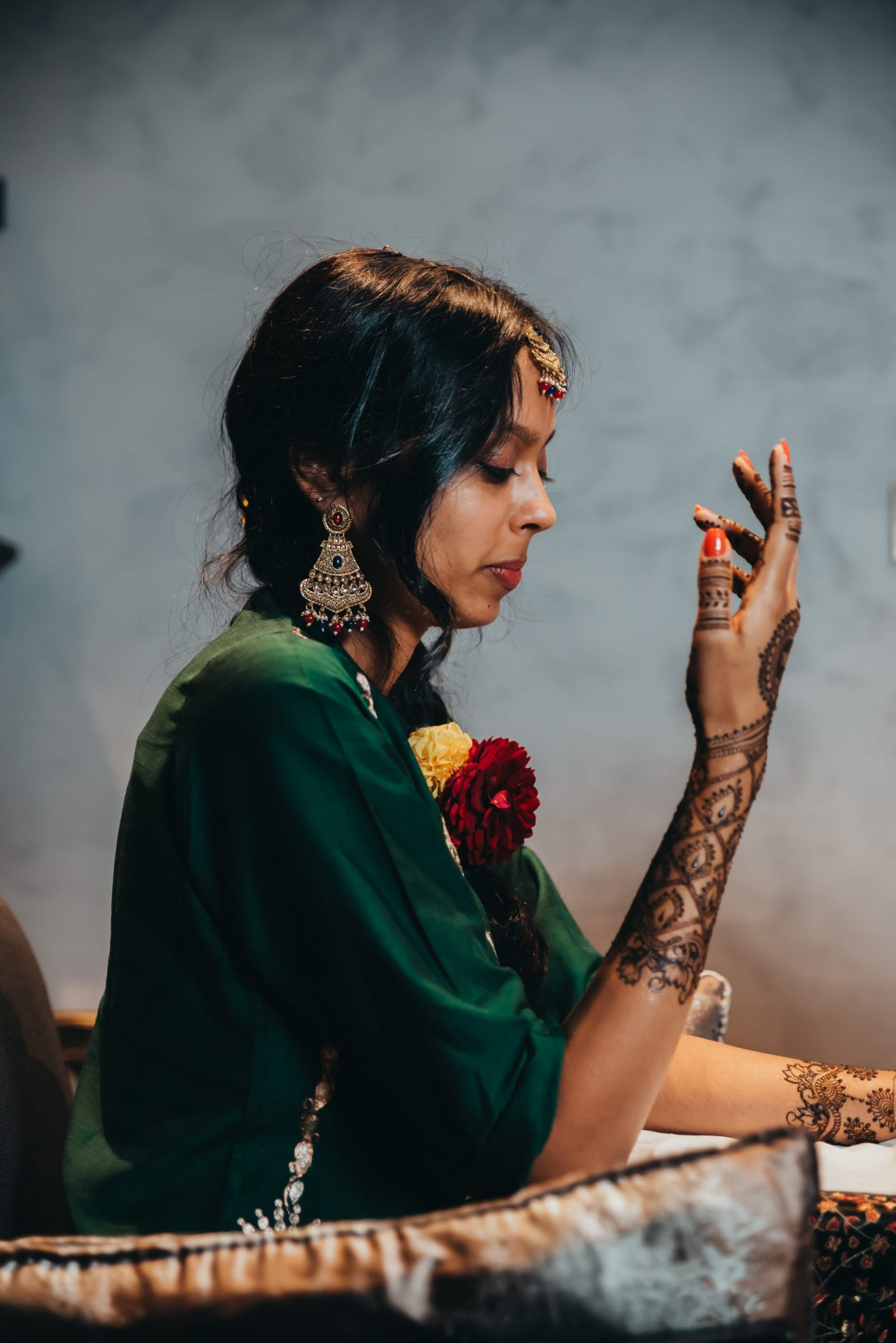 Mehndi ceremony in an Indian wedding ceremony