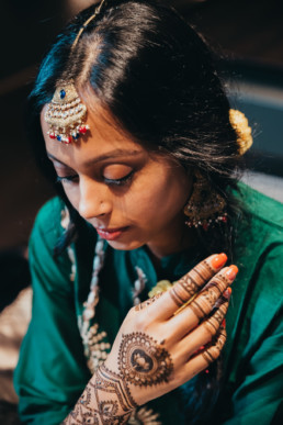 Mehndi ceremony in an Indian wedding ceremony , Barnet, Potters Bar