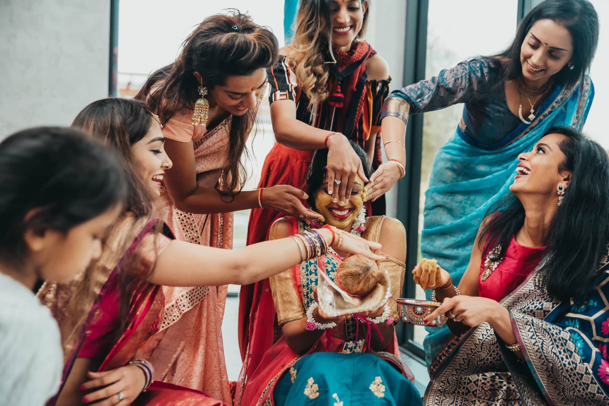 Mehndi ceremony in an Indian wedding ceremony, Barnet, Potters Bar London