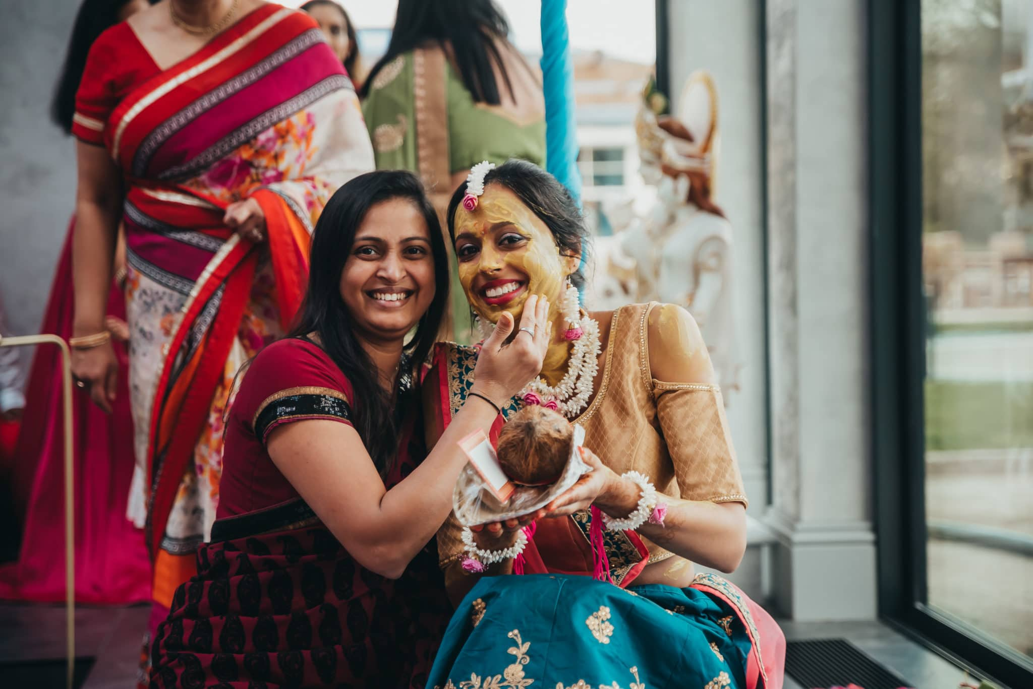 Pithi ceremony in an Indian wedding ceremony, Barnet, Potters Bar London
