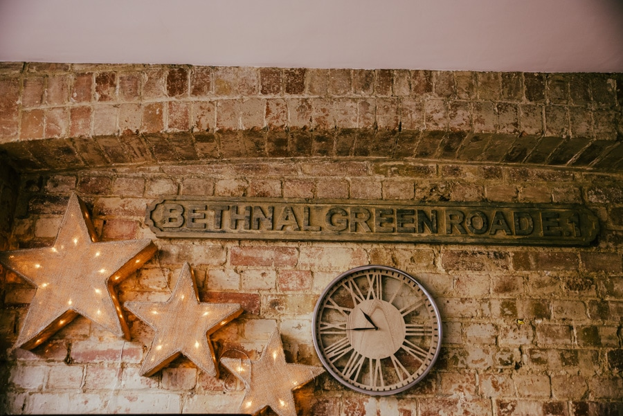 Bethnal green roade sign in the house