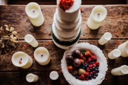 Three tier wedding cake at the Fine art Wedding , London , Hammersmith Town Hall