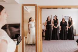 Wedding brides maids at the hotel, Hilton watford Celebratory drink
