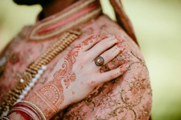 ring shot of the bride