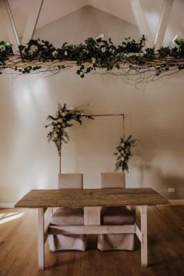wedding ceremony main table Roshni photography The Milling Barn, Bluntswood Hall, Throcking wedding photographer
