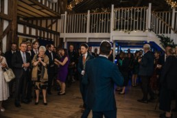 first dance bride and groom at the reception Roshni photography The Milling Barn, Bluntswood Hall, Throcking wedding photographer