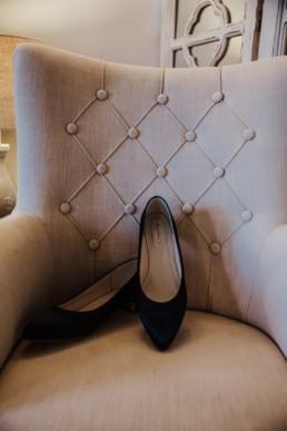 black wedding shoe Roshni photography The Milling Barn, Bluntswood Hall, Throcking wedding photographer